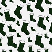 Green Christmas Stocking Textured Fabric Background — Foto de Stock