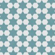 Blue and White Hexagon Patterned Textured Fabric Background — Stock Photo #35803881