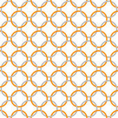 Orange, Gray and White Interlaced Circles Textured Fabric Backgr — Stock Photo