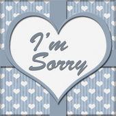 I'm Sorry Message — Stock fotografie