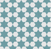 Blue and White Hexagon Patterned Textured Fabric Background — ストック写真