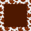Orange Autumn Leaves Textured Fabric Background — Stock Photo