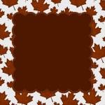 Orange Autumn Leaves Textured Fabric Background — Stock Photo