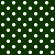 White Polka Dots on Green Textured Fabric Background — Stock Photo #36184215