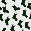 Green Christmas Stocking Textured Fabric Background — Stock Photo