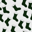 Green Christmas Stocking Textured Fabric Background — Stockfoto