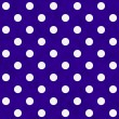 White Polka Dots on Purple Textured Fabric Background — Stock Photo