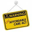 Warning of Un Affordable Healthcare — Stock Photo