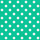 White Polka Dots on Teal Textured Fabric Background — Stock Photo