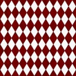 Red and White Diamond Shape Fabric Background — Stock Photo