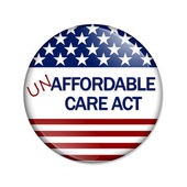 Not Affordable Care Act Button — Stock Photo