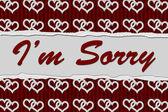 I'm Sorry Message — Stock Photo