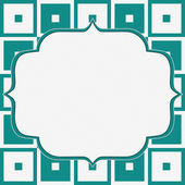 Teal and White Tapestry Square Fabric Background — Stock Photo