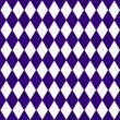 Purple and White Diamond Shape Fabric Background — 图库照片