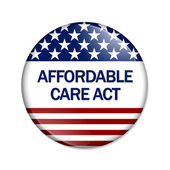 Affordable Care Act Button — Stock Photo