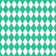 Teal and White Diamond Shape Fabric Background — Stock Photo