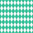 Teal and White Diamond Shape Fabric Background — Stock Photo #36728437