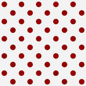 Red Polka Dots on White Textured Fabric Background — Stock Photo