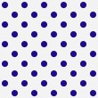 Bright Blue Polka Dots on White Textured Fabric Background — Stockfoto
