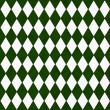 Green and White Diamond Shape Fabric Background — Stock Photo