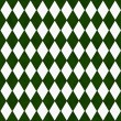 Green and White Diamond Shape Fabric Background — Zdjęcie stockowe
