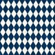 Navy Blue and White Diamond Shape Fabric Background — Stock Photo