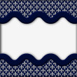 Blue and Gray Fleur De Lis Textured Fabric Background — Stock Photo #37325649