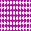 Bright Pink and White Diamond Shape Fabric Background — Stockfoto