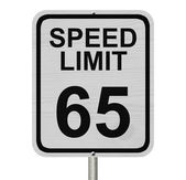 Speed Limit 65 Sign — Stock Photo