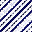 Navy Blue Diagonal Striped Textured Fabric Background — Stock Photo