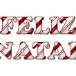 Stock Photo: Feliz Natal - Happy Holidays in Candy Cane Colors