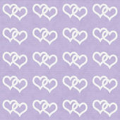 White Interwoven Hearts and Purple Thin Stripes Horizontal Textu — Stock fotografie