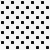 Black Polka Dots on White Textured Fabric Background — Stock Photo