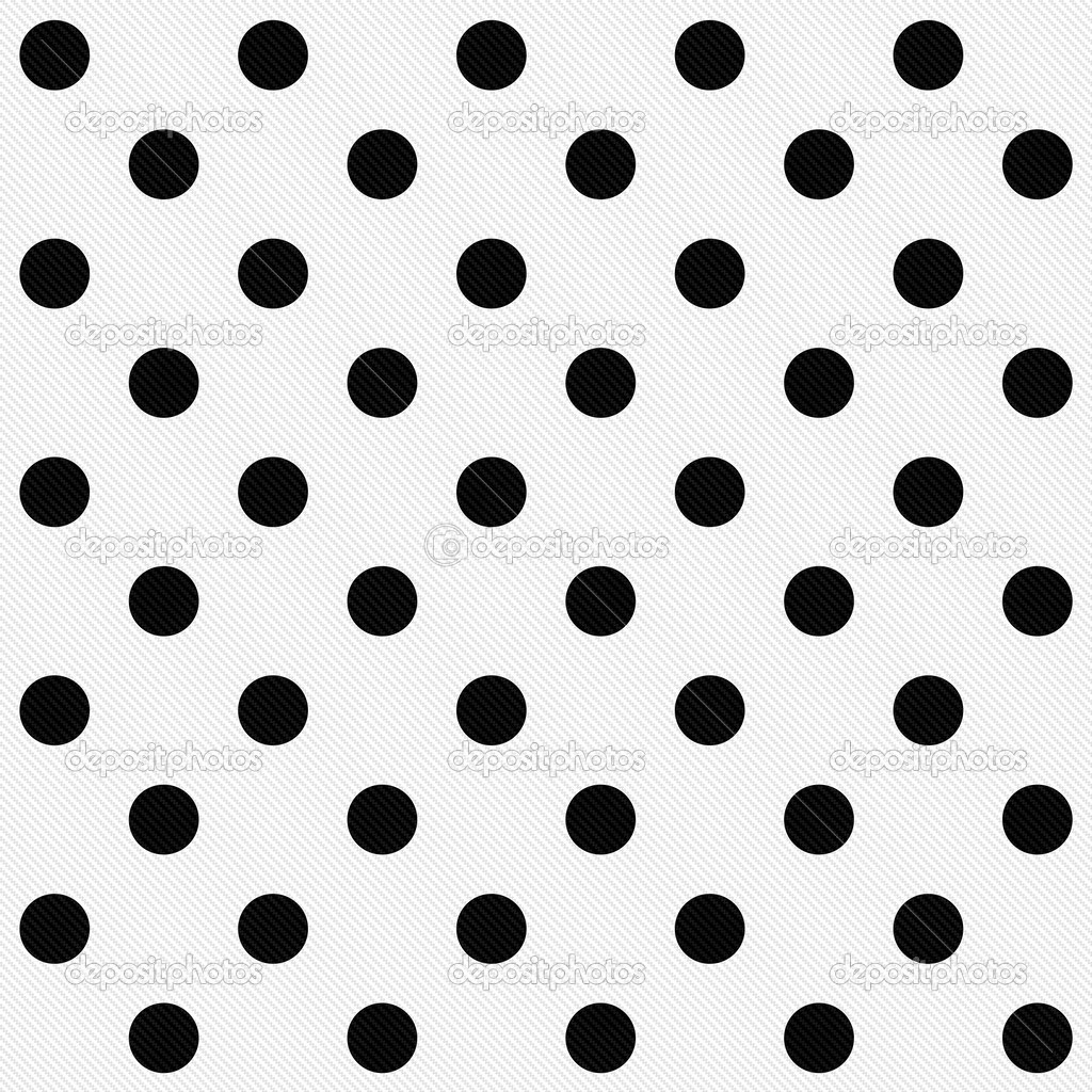 White Dot Black Background Black Polka Dots on White