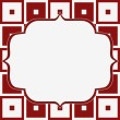 Red and White Tapestry Square Fabric Background — Stock Photo
