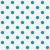 Bright Teal Polka Dots on White Textured Fabric Background — Stock Photo