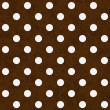White Polka Dots on Brown Textured Fabric Background — Stock Photo
