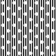 White Polka Dots with Black and White Striped Textured Fabric Ba — Stock Photo