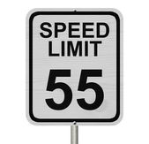 Speed Limit 55 Sign — Stock Photo