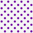 Bright Purple Polka Dots on White Textured Fabric Background — Stock Photo