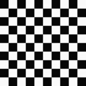 Black and White Checkers on Textured Fabric Background — Stock Photo