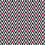 Black and White Horizontal Chevron Striped with Polka Dots Backg — Stock Photo