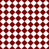 Dark Red and White Diagonal Checkers on Textured Fabric Backgrou — Stock Photo