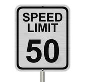 Speed Limit 50 Sign — Stock Photo