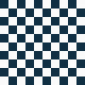 Navy Blue and White Checkers on Textured Fabric Background — Stock Photo