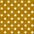 White Polka Dots on Yellow Textured Fabric Background — Stock Photo