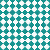 Dark Teal and White Diagonal Checkers on Textured Fabric Backgro — ストック写真