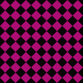 Black and Pink Diagonal Checkers on Textured Fabric Background — Stock Photo