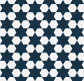 Dark Blue and White Hexagon Patterned Textured Fabric Background — Stock Photo