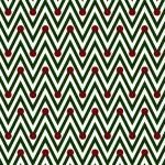 Green and White Horizontal Chevron Striped with Polka Dots Backg — Stock Photo